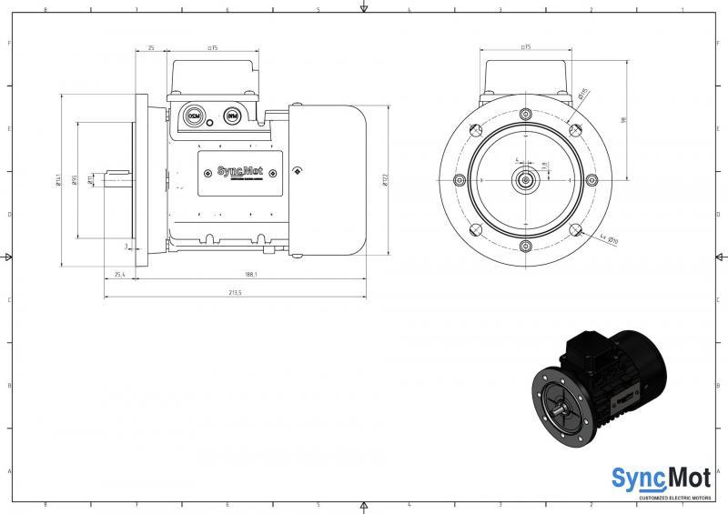 SM 0,75kW; 1500 rpm; IEC63 B5