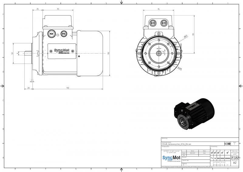 SM 0.55kW; 3000 rpm; IEC56 B14