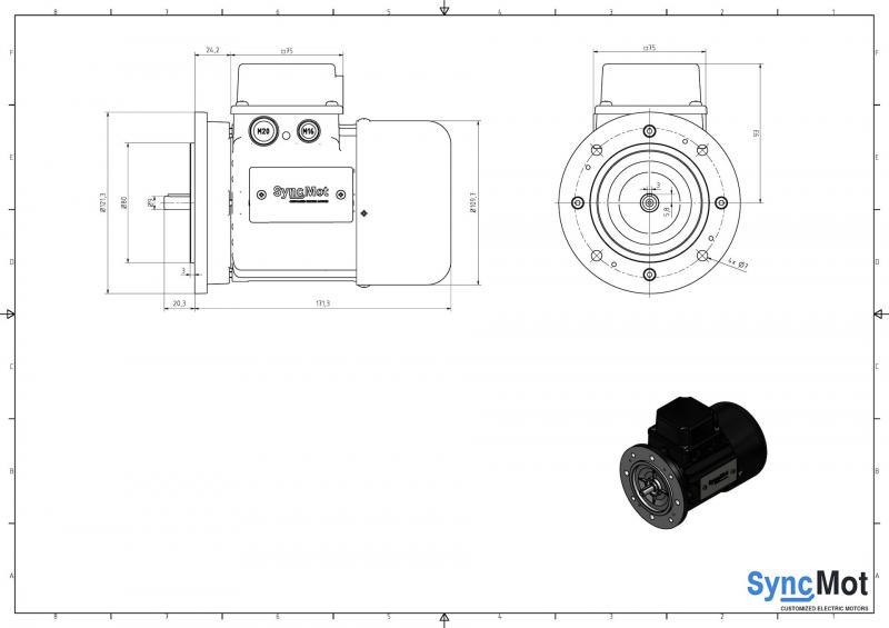 SM 1,1kW; 3000 rpm; IEC56 B5