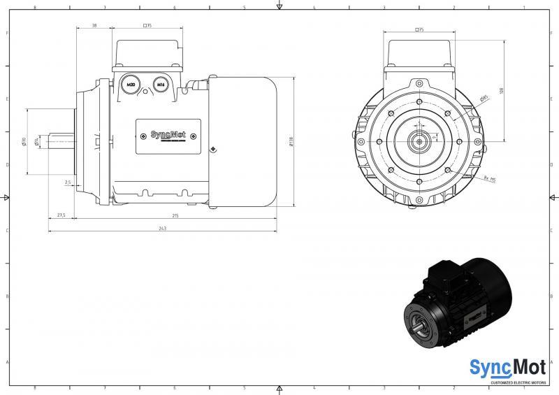 SM 2,2kW; 1500 rpm; IEC71 B14