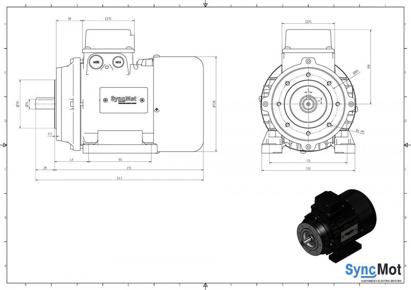 SM 3,0kW; 3000 rpm; IEC71 B34