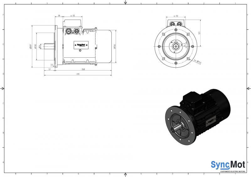 SM 3kW; 1500 rpm; IEC90 B5