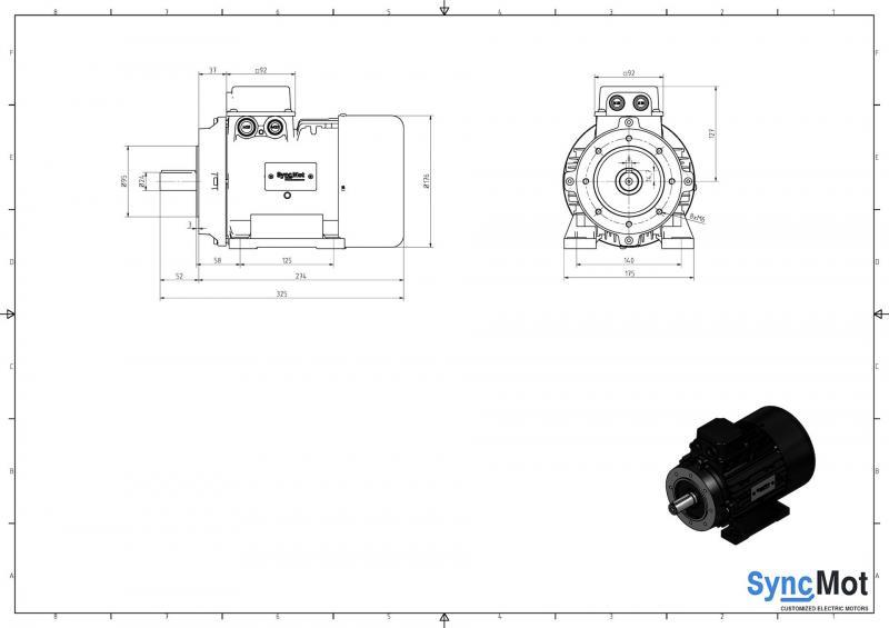 SM 3kW; 1500 rpm; IEC90 B34