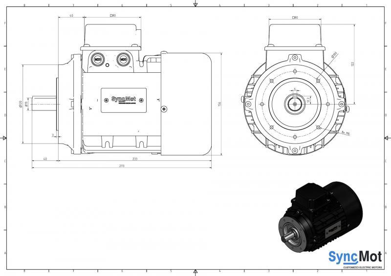 SM 5,5kW; 3000 rpm; IEC80 B14