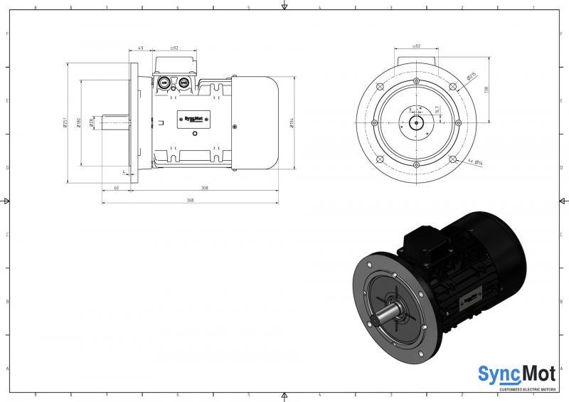 SM 7,5kW; 1500 rpm; IEC100 B5