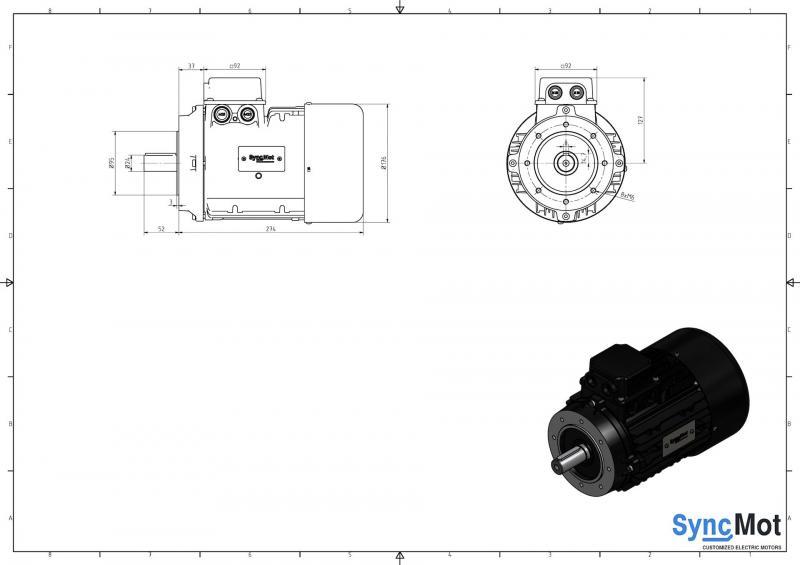 SM 9,0kW; 3000 rpm; IEC90 B14